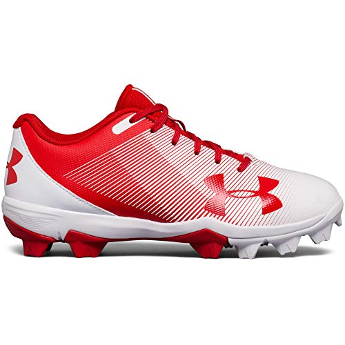 Under Armour Boys' Leadoff Low Jr. RM Baseball Shoe Red (611)/White 1 by Under Armour (Image #2)