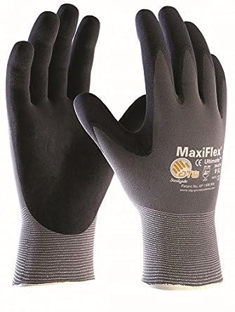 10 pares MaxiFlex Ultimate - guantes de nylon y espuma de nitrilo: Amazon.es: Amazon.es