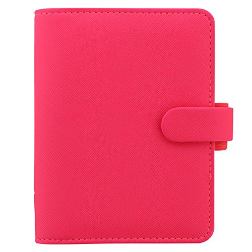 Filofax Saffiano Fluoro Pocket Organizer Pink | New 2018 Color!