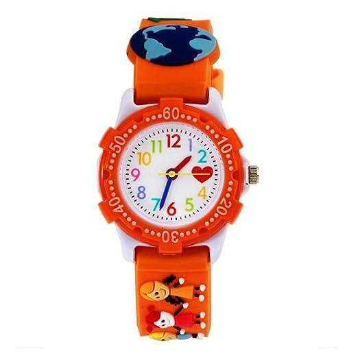Reloj para Ni?as, Reloj de Cuarzo con Dibujos Animados Bonitos en 3D Resistente al Agua, Regalo para Chicos Ni?os y Ni?as: Amazon.es: Relojes