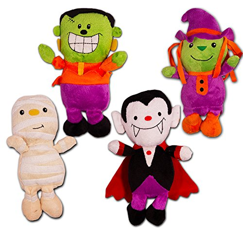 Halloween Plush Toys Super Set -- 4 Large Halloween Plush Stuffed Toys, 8