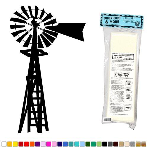 Graphics and More Windmill American Farmer - Vinyl Sticker Decal Wall Art Decor - Black