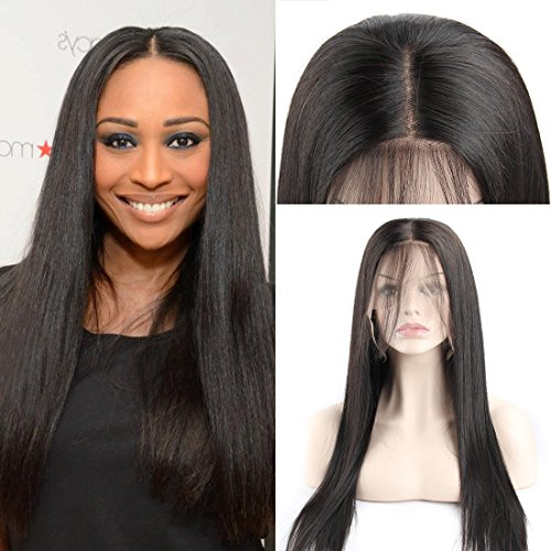 360 Lace Frontal Wigs Brazilain Straight Middle Part Natural Color 150% Density Remy Human Hair Wig with Baby Hair - Normal Fedex Times Delivery