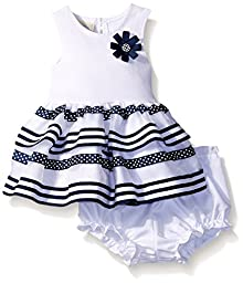 Marmellata Baby Navy and Whit Striped Tank Dress, Multi, 3-6 Months