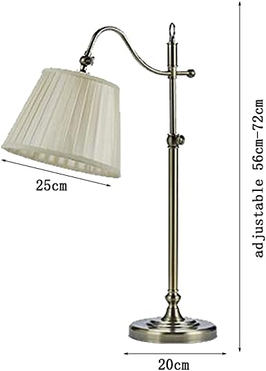 ZXPzZ Lámpara de escritorio elevable de bronce Luz de mesa ...