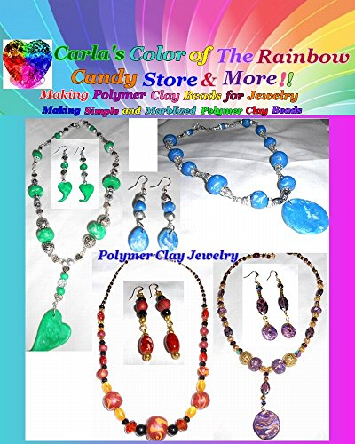 Making Polymer Clay Beads for Jewelry: Making Simple and Marblized Polymer Clay - Clay Simple