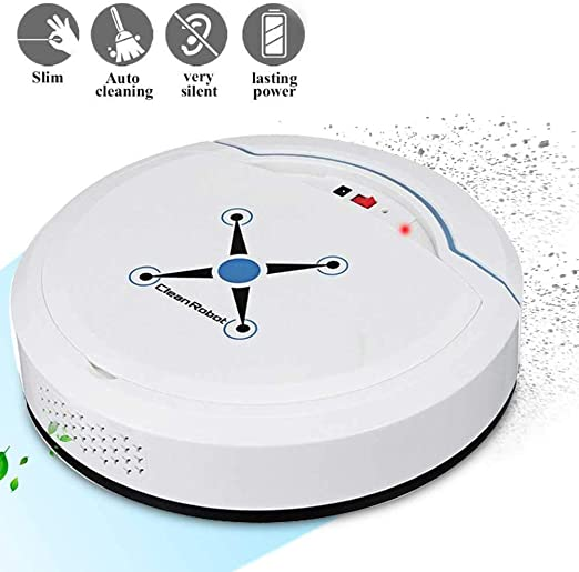 lesgos Robot Aspirador Inteligente, Sensores Inteligentes de succión Fuerte Autocarga Robot Inteligente Aspirador automático Limpiador de Pisos para alfombras de Pelo para Mascotas: Amazon.es: Hogar