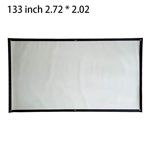 57.5 x 43.3inch HD Projector Screen,Portable Folding Anti-Crease Indoor Outdoor Projector Movies Screen for Home,Screen Size 60inch,72inch,84inch,92inch,100inch,110inch,120inch,133inch,150inch