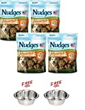 Nudges Pack of 4 Homestyle Natural Dog Treats Made with Real Chicken, Carrots & Peas with Free! Buy More, Save More!