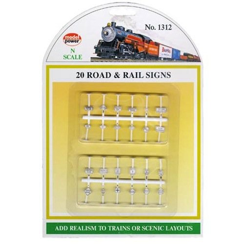 (Model Power N Road & Rail Signs (12))