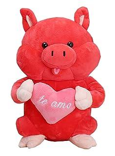 Black Temptation Pig Anno Bambola Mascotte Maiale Bambola Peluche Regalo Rosso
