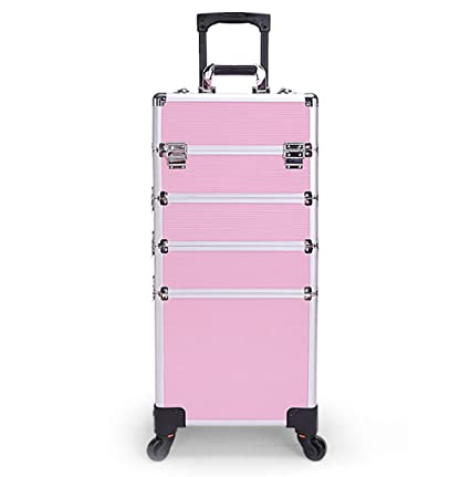 Amazon Com Luxury Professional Large 4 In 1 Makeup Trolley Case