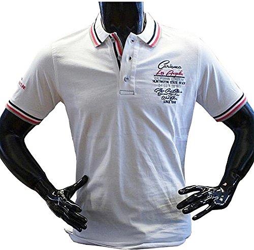 Brandneu !!! Designer Polo-Shirt von CARISMA in Weiß CRM4103
