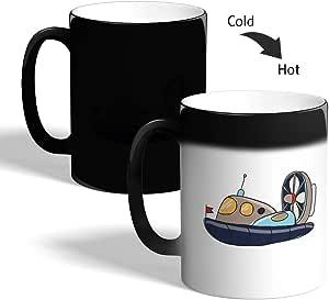 Printed Magic Coffee Mug, Black, Submarine