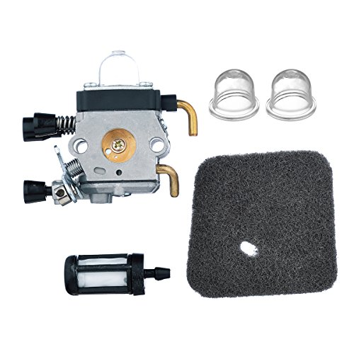 HIFROM Carburetor with Air Filter Primer Bulb for STIHL FS38 FS45 FS45C FS45L FS46 FS55 FS55C FS55T FS55R FS55RC KM55 HL45 KM55R String Trimmer Weedeater -  HI-CarbAif-FS38