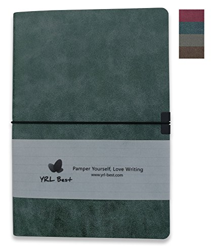 YRL Best | Layflat A5 Executive Writing Journal/Notebook, Wide Ruled/Lined, Medium Size, 5.8x8.3