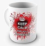 Funny Mug - Keep Calm And Kill Zombies - 11 OZ Coffee Mugs - Funny Inspirational and sarcasm - By A Mug To Keep TM