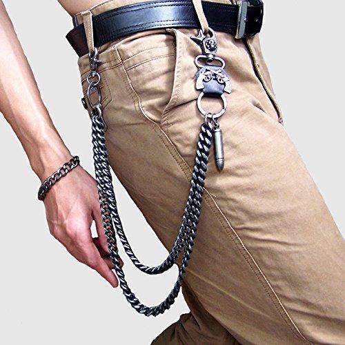 Wallet Chain For Men Biker Hip Hop Punk Skull Gun Bullets Strong Key Jeans Pant Chain Heavy Waist Chain by Heth (Image #1)