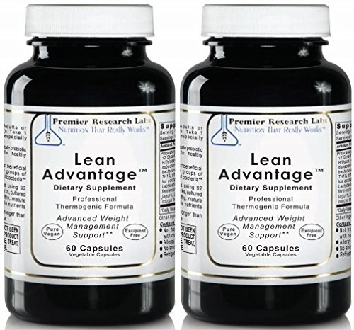 PREMIER RESEARCH LABS Lean Advantage - Weight Management, Glucose Response and Sustain The Ratio of Lean Muscle to Total Body Mass (60 Vegetarian Capsules - Pack of Two) by Premier Research Labs (Image #2)
