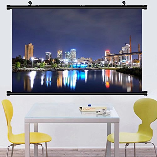 Gzhihine Wall Scroll Posterskyline of birmingham alabama from railroad park ,Wall Art Paiting on Canvas 35