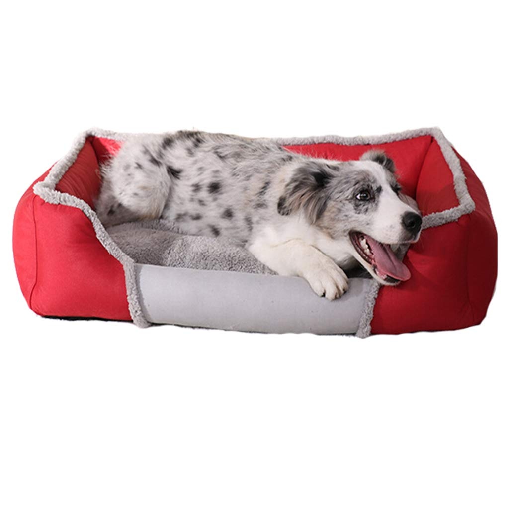 B M B M DSADDSD Pet Bed Washable Keep Warm In Winter Small And Medium Dog Cat Kennel Mat Pet Supplies (color   B, Size   M)