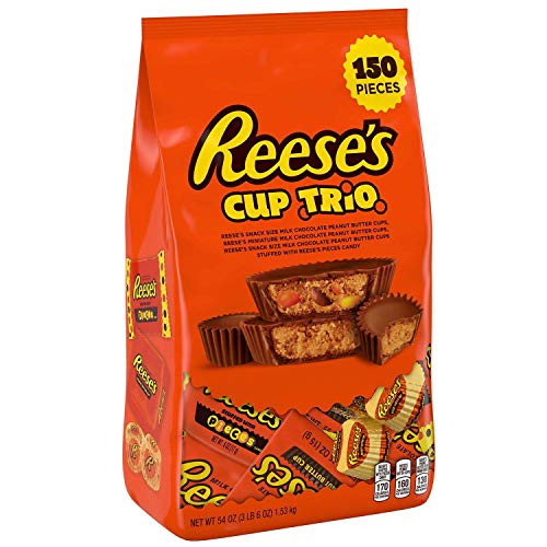 Reese's Peanut Butter Cup Halloween Candy Trio (150 pieces Variety Pack) ()