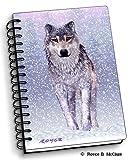 Snow Wolf - 4' x 6' 3D Notebook - Artgame