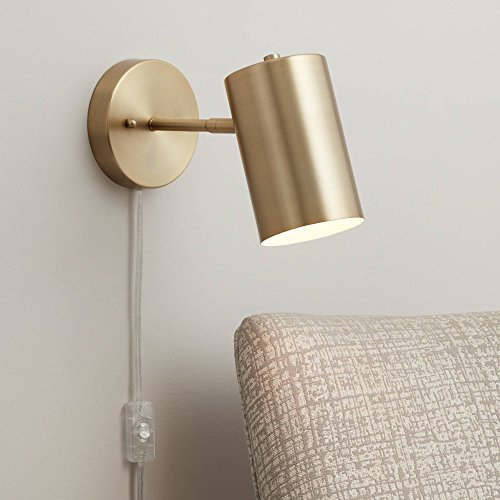 Carla Polished Brass Down-Light Pin-Up Wall Lamp - 360 Lighting
