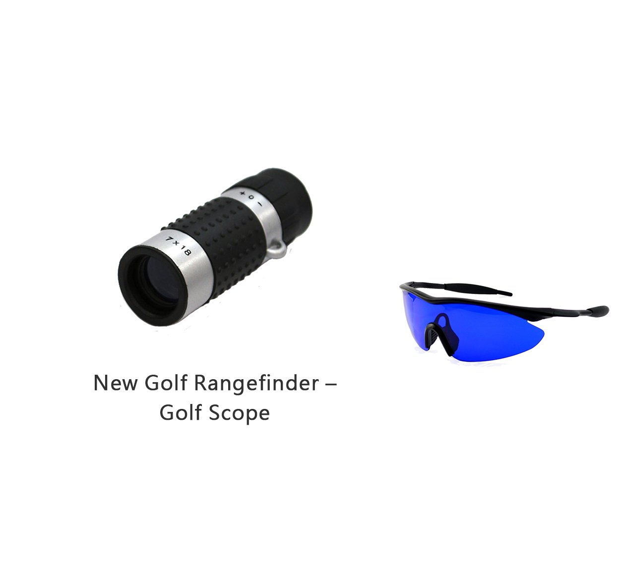 Posma GF100A Bundle set Golf Rangefinder High Definition Mini Monocular Pocket Scope + Golf Ball Finder Hunter Retriever Glasses
