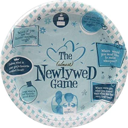 bridal shower newlywed game large paper plates