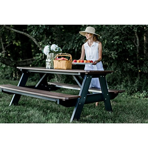 (Wildridge Heritage Outdoor Picnic Table w/Legs Attached - Ships in 10-14 Business Days)