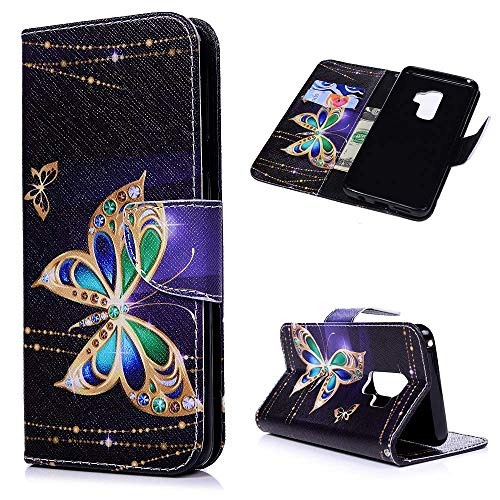 VinMas Galaxy S9+ Plus Case, Premium PU Leather Wallet Case with Kickstand and Flip Cover for Samsung Galaxy S9+ Plus, 2018 Release