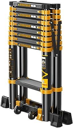 LJSJT Escalera Plegable De Aluminio Escalera De 7 Peldaños con Barra De Equilibrio Interior Y Exterior Escaleras Portátiles del Ático Teniendo Peso 150 Kg 2.7 + 2.7m: Amazon.es: Hogar