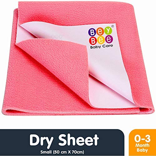 Beybee Just Dry Baby Care Waterproof Bed Protector Sheet - Small (Salmon Rose) product image