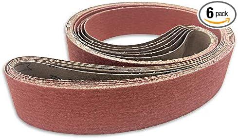 2 x 72  Premium Ceramic 80 Grit  Sanding Belts 10 Belts Absolute High Quality