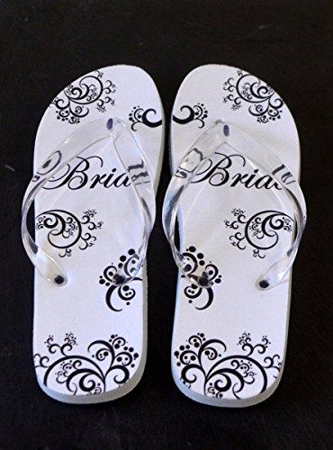 Flip XFFS035 Bride Brides Flops Shoe 4 Flip Monochrome Design Flops UK Euro 8 41 Dancing 37 ZEqIdwd