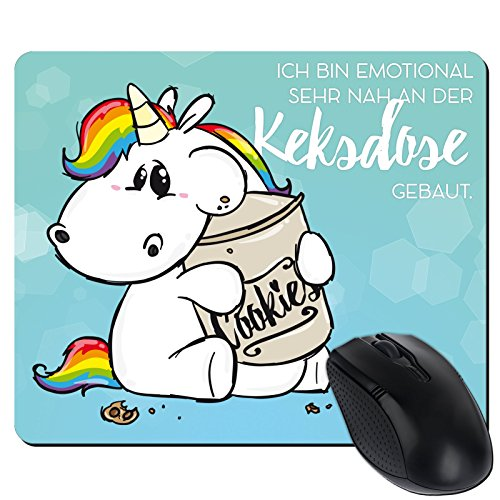 getshirts - Pummeleinhorn - Mousepad - Keksdose - weiss uni