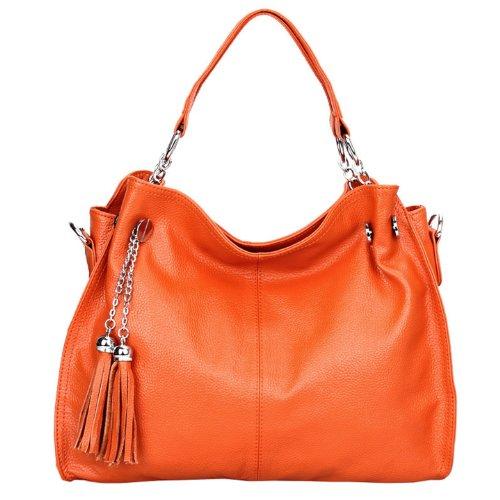 épaule Sac femme main à porté Sac DISSA femme Orange bandoulière cuir Q0217 Sac PFvWApW