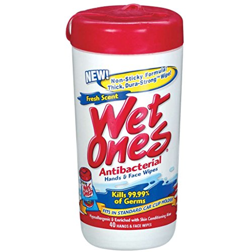 - Wet Ones Antibacterial Moist Towelettes - 40 per pack (Pack of 18)