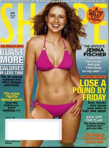 Jenna Fischer Cover Shape Magazine November 2009   Lose A Pound By Friday