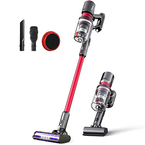 Dibea 25KPa Powerful Suction Cordless Stick Vacuum Cleaner Quiet Lightweight Multi-Function Handheld Vacuum Deep Clean for Floor Carpet Car Pet Hair Latest Model F20MAX