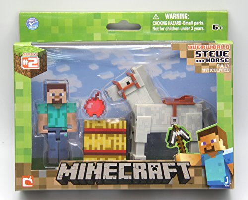 Minecraft Steve with White Horse Figure Pack]()