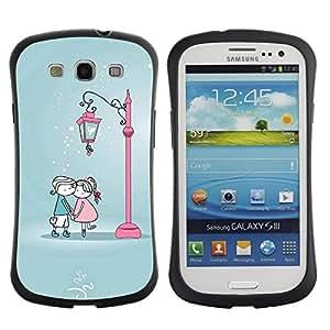 Suave TPU GEL Carcasa Funda Silicona Blando Estuche Caso de protección (para) Samsung Galaxy S3 I9300 / CECELL Phone case / / Cute Kiss Me Couple /
