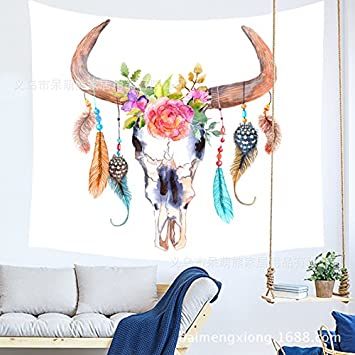 210038 150102CM Tapestry Tapestries Decor Wall hanging Background wall bed background hangcloth bedroom home Nordic living room deer head tapestry decoration