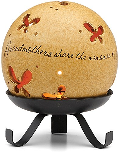 Comfort Candles Grandmother by Pavilion Includes Tea Light Candle and Stand, 5-1/2-Inch, Butterfly Pierced Round