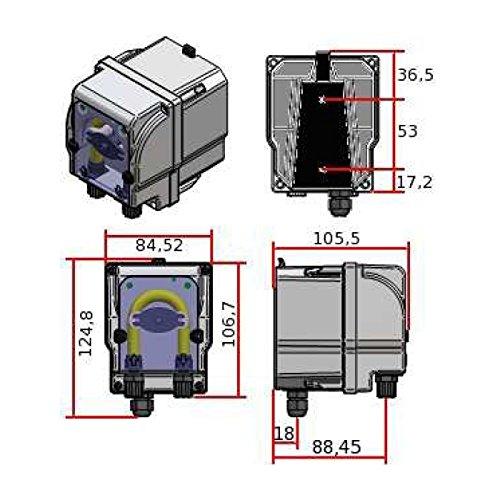 Saug und Druckschlauch Dosierventil alfa-pool Dosieranlage PSP 230V 1,5 l//h Fussventil