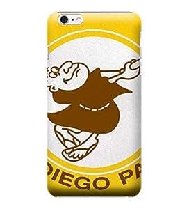 i6 4.7 Shock Proof Case,MLB Large Vintage Padres Hard Back Shell Case Compatible For iPhone 6 4.7