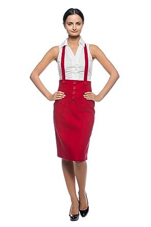 Fill High waist suspenders pencil skirt really