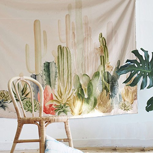 Used, Jeteven Tropical Desert Plant Tapestry Cactus Wall for sale  Delivered anywhere in USA