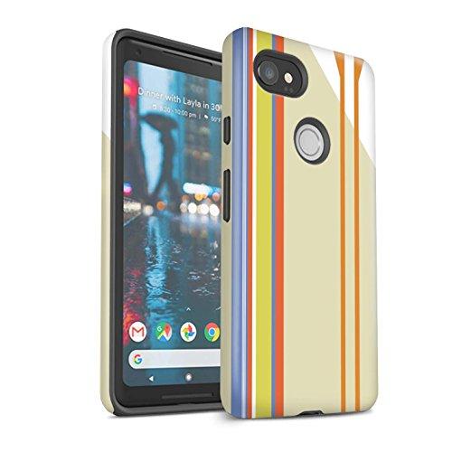 Stuff4® Matte Harten Stoßfest Hülle/Case für Google Pixel 2 XL/Koralle Kleid Muster/Strand Mode Kollektion Strand Streifen MNyXRU